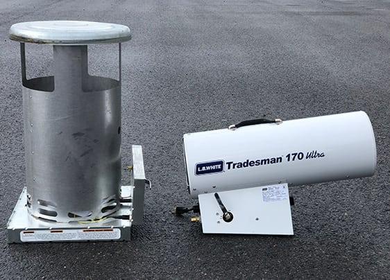 Mushroom Heater and Tradesman Torpedo Heater